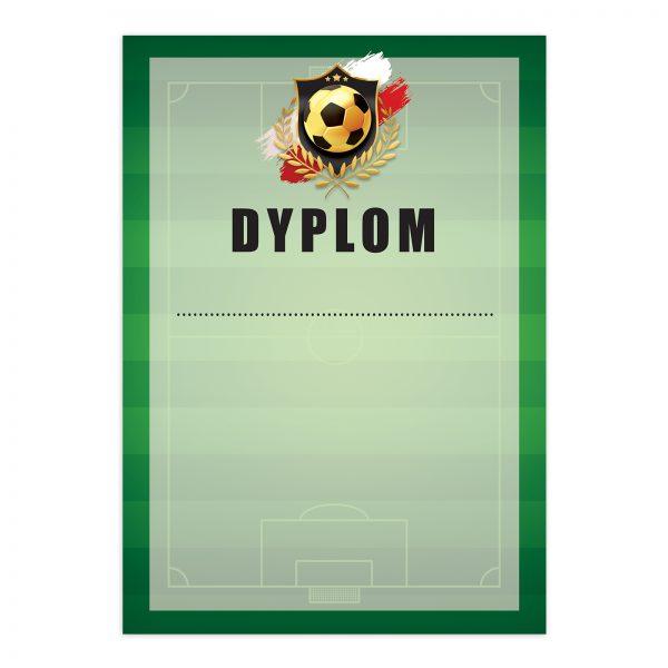 Dyplom drukowany na zawody sportowe w piłce nożnej (20 sztuk)