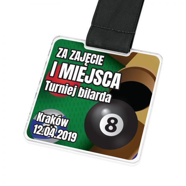 Medal z plexi na zamówienie na turniej bilarda