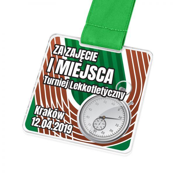 Medal na zawody lekkoatletyczne dla dzieci i dorosłych