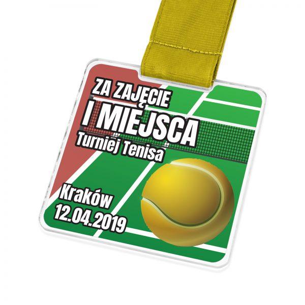 Medal dla zawodnika tenisa ziemnego na zamówienie z nadrukiem