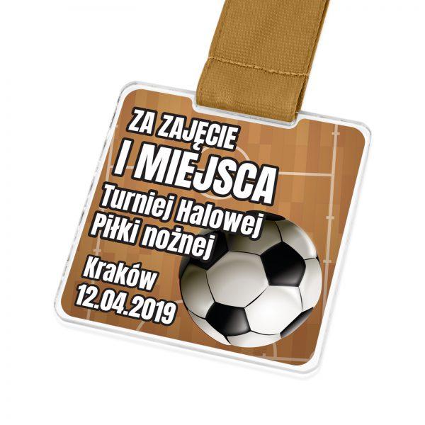 Medal sportowy z nadrukiem na turniej halowej piłki nożnej