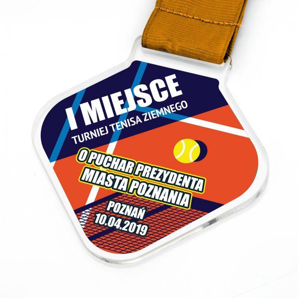 Medal pamiątkowy dla zawodników turnieju tenisa ziemnego