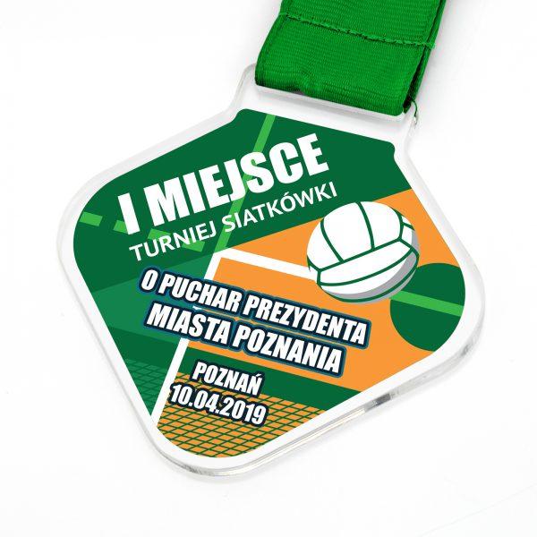 Medal siatkarski z pleksi z nadrukiem na zamówienie