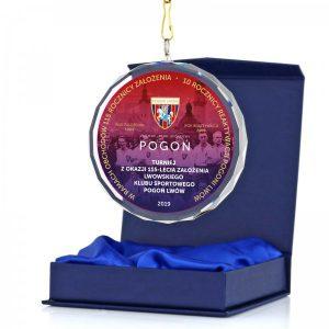 medal szklany z kolorowym nadrukiem UV