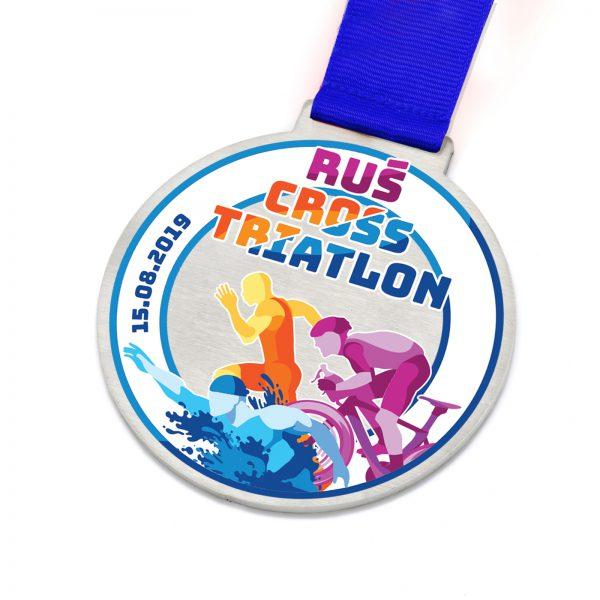 Medal na zamówienie na zawody sportowe – Cross Triatlon