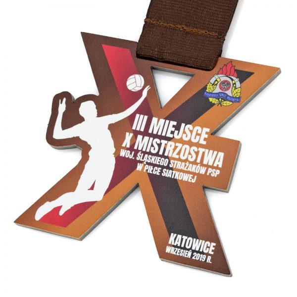 Medal ażurowy z metalu na Mistrzostwa Strażaków PSP