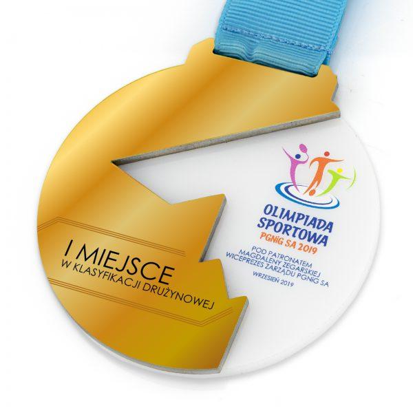 Medal 3D exclusive z metalu i pleksi na Olimpiadę Sportową