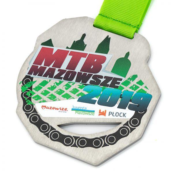 Medal nieregularny z wycięciem w metalu MTB Mazowsze