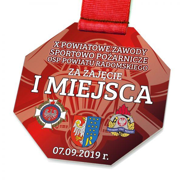 Medal za zawody sportowo pożarnicze z metalu