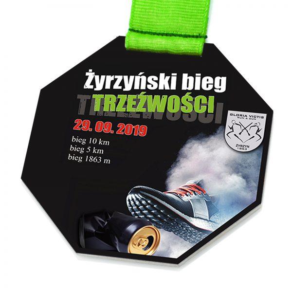 Medal sportowy za zawody biegowe – Bieg Trzeźwości