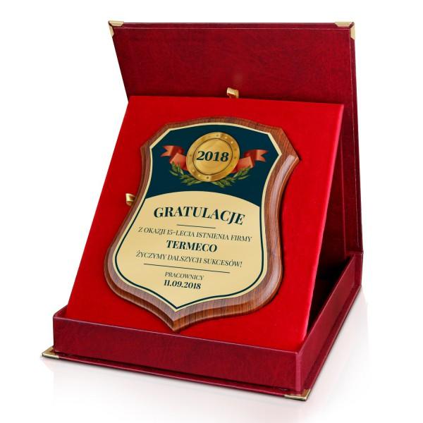 elegancki certyfikat na podziękowanie