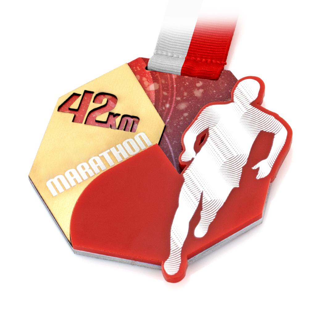 medal z nadrukiem na bieg patriotyczny