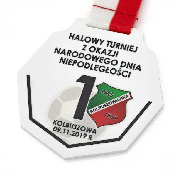 Medal piłkarski z pleksi na Narodowy Dzień Niepodległości