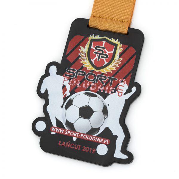 Medal piłkarski z czarnej pleksi na turniej Sport Południe Cup