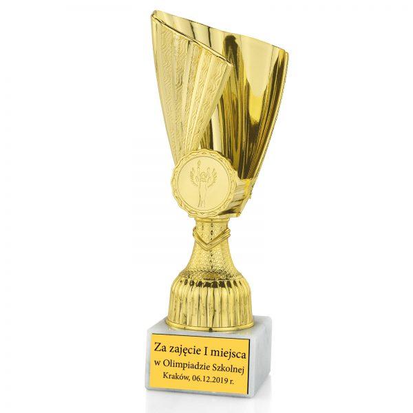 Puchar sportowy z grawerem dla dzieci na olimpiadę szkolną