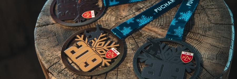 medale metalowe dla snowboardzistów