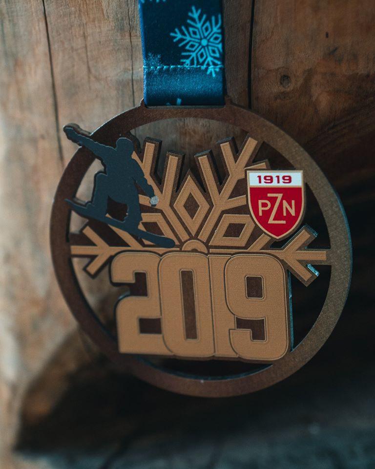 medal dla snowboardzisty pzn