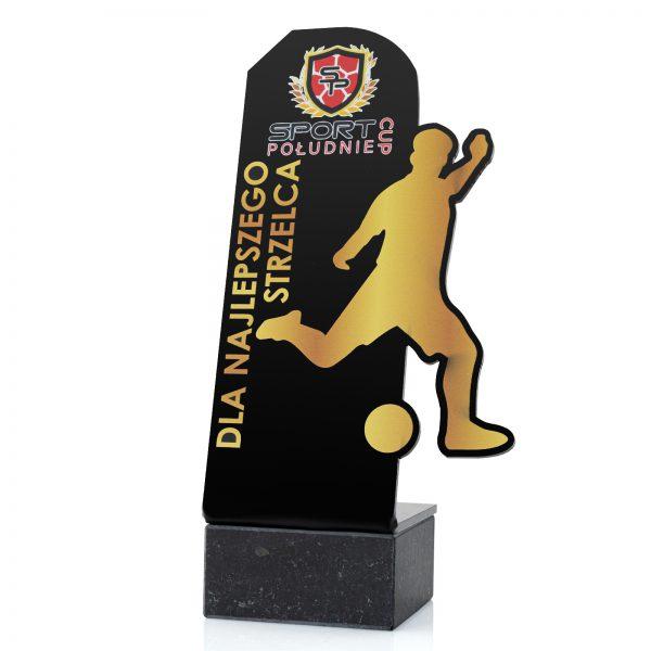 statuetka piłkarska na postumencie