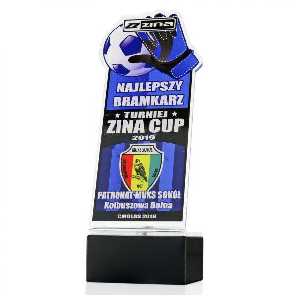 Statuetka dla bramkarza z pleksi na turniej piłki nożnej