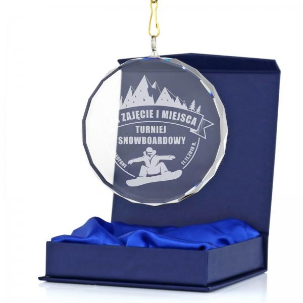 medal sportowy szklany z grawerem