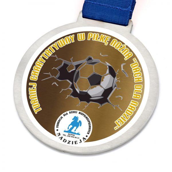 Medal na zawody w piłce nożnej na turniej charytatywny