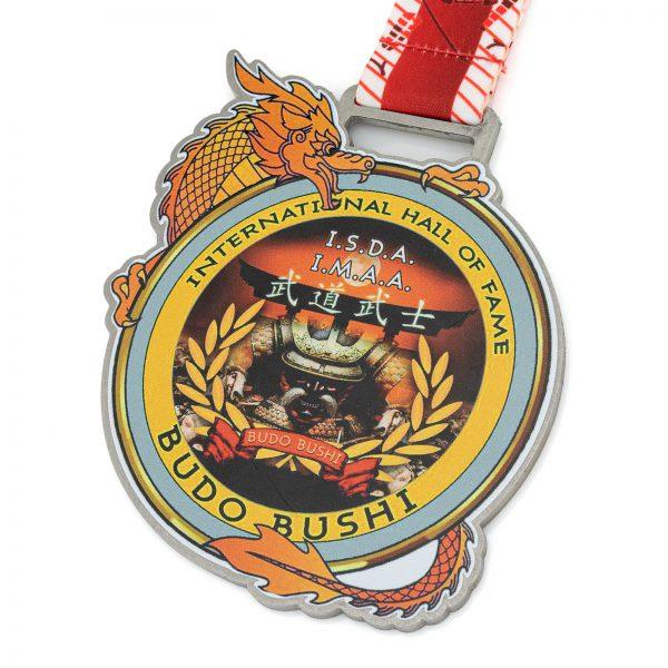 Medal na zawody sztuk walki metalowy Budo Bushi