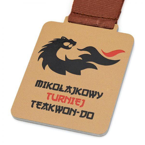 Medal świąteczny na mikołajkowy turniej teakwon-do