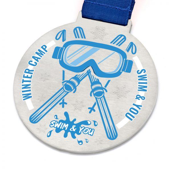 Medal dla narciarzy i sportowców na obóz zimowy