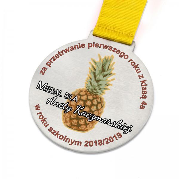 Medal na magnesie z metalu dla nauczycielki na zakończenie roku