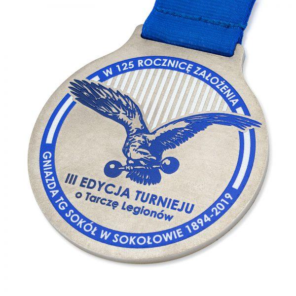 Medal pamiątkowy z metalu dla Towarzystwa Gimnastycznego Sokół