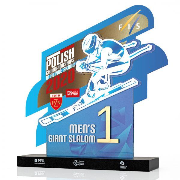 Statuetka sportowa na zawody w narciarstwie alpejskim dla PZN
